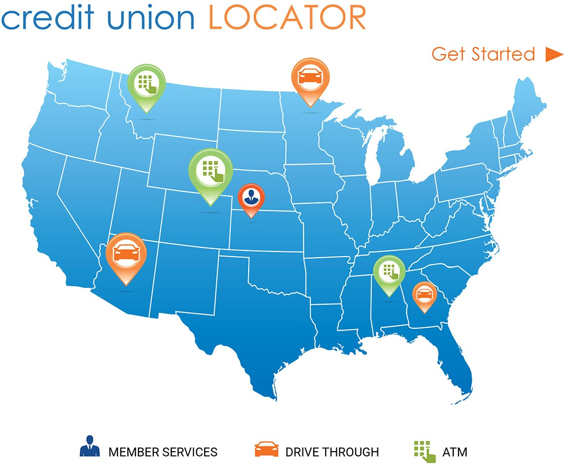 Credit Union Locator - Get Started
