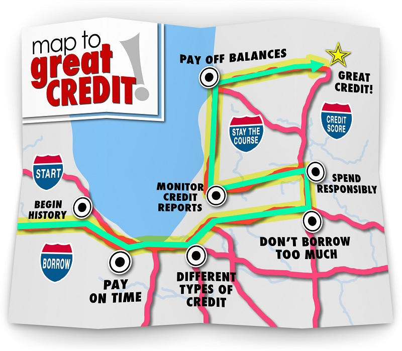 Map to great credit (infographic)