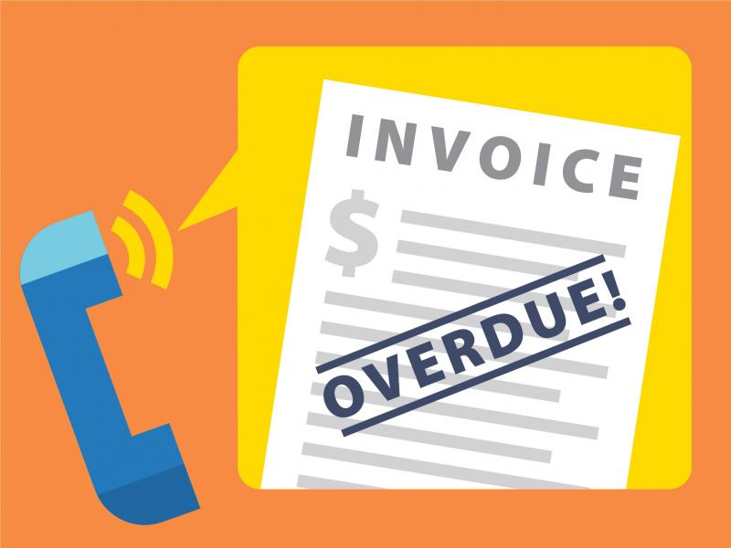 Invoice Overdue, symbolizing debt collection toolbox for consumers