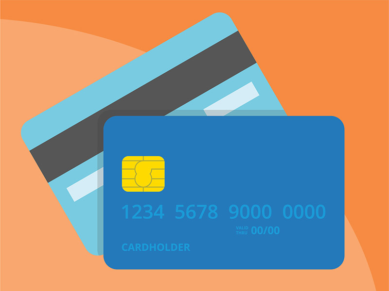 Credit card, symbolizing paying off credit card debt
